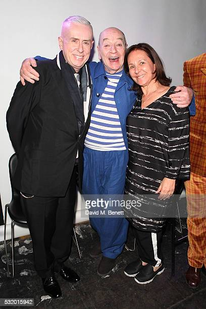 Holly Johnson Lindsay Kemp and Arlene Phillips attend 'Lindsay Kemp My Life Work With David Bowie In Conversation With Marc Almond' at The Ace Hotel...