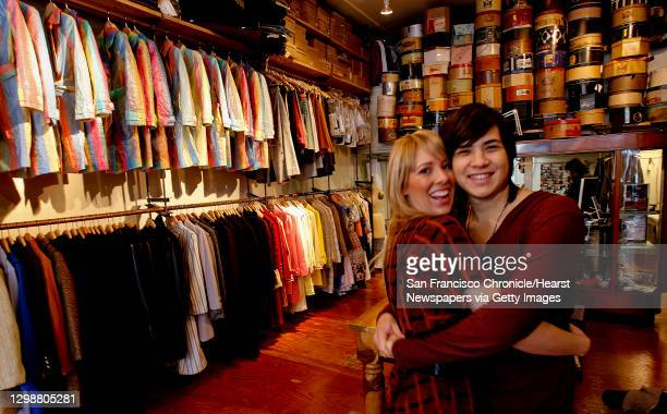 Holly Kricher and Michael Weaver are the owners of Shotwell a clothing store on Geary st are photographed at one of their favorite spots al?s Attire...