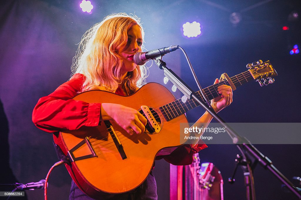 Holly Macve performs on stage at Brudenell Social Club on February 3, 2016 in Leeds, England.