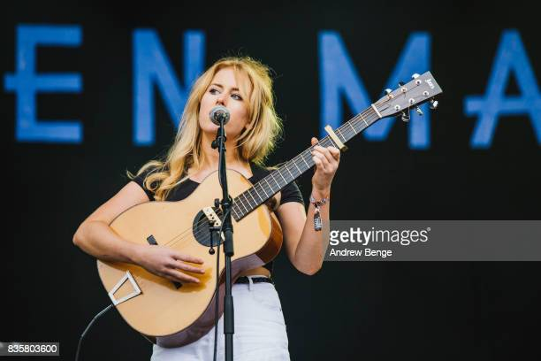 Holly Macve performs on the Mountain stage during day 4 at Green Man Festival at Brecon Beacons on August 20, 2017 in Brecon, Wales.