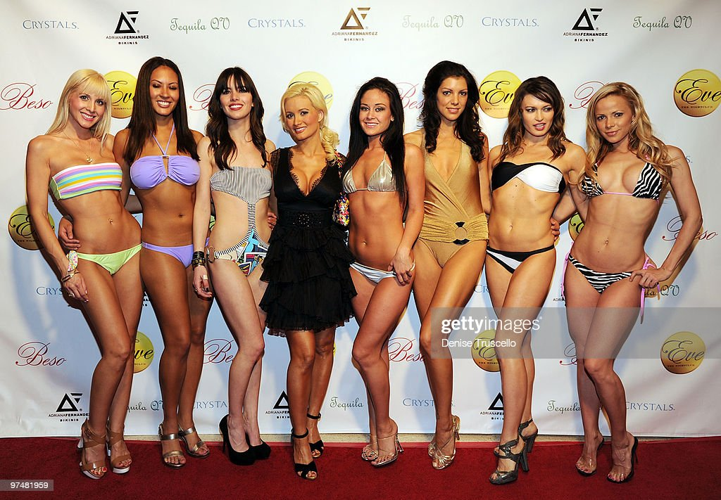 Holly Madison Hosts Adriana Fernandez Bikini Fashion Show At Eve Nightclub : News Photo