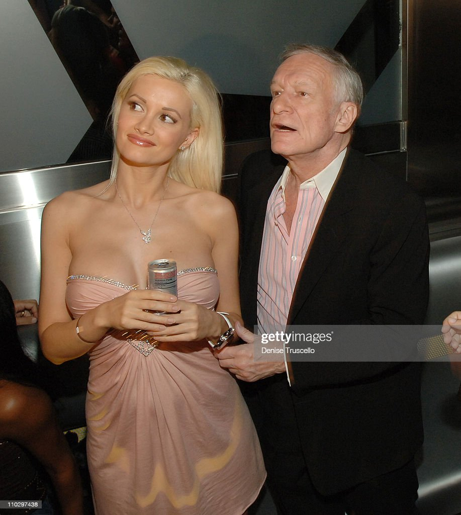 Hugh Hefner Kicks Off His 81st Birthday Celebration Weekend Hosted By The Girls Next Door at The Playboy Club and Moon Nightclub : News Photo