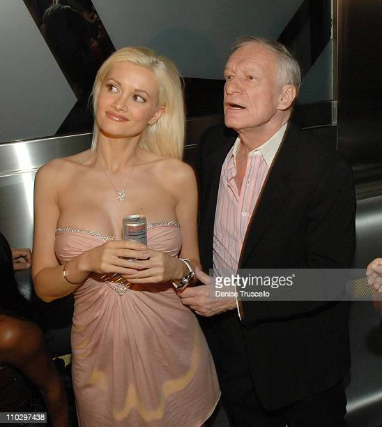 Holly Madison and Hugh Hefner during Hugh Hefner Kicks Off His 81st Birthday Celebration Weekend Hosted By The Girls Next Door at The Playboy Club...