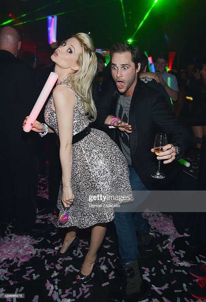 Holly Madison's Birthday Party At Moon Nightclub Inside Palms Casino Resort