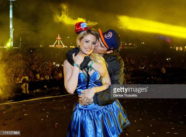 Holly Madison and Pasquale Rotella attends the Electric Daisy Carnival London 2013 at Queen Elizabeth Olympic Park on July 20 2013 in London England