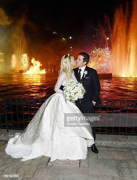 Holly Madison and Pasquale Rotella during their wedding reception at Disneyland on September 10 2013 in Anaheim California
