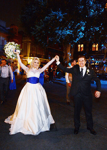 Holly Madison And Pasquale Rotella During Their Wedding Reception At Disneyland On September 10 2013