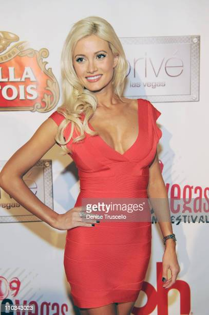 Holly Madison arrives at the world premiere of Saint John of Las Vegas at Planet Hollywood Casino Resort on June 10 2009 in Las Vegas Nevada