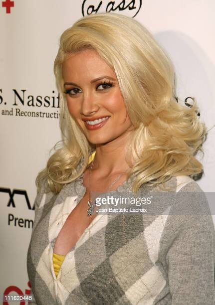 Holly Madison arrives for the production of Pieces on April 2 2008 at Key Club in Hollywood California