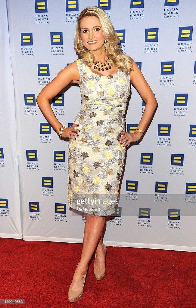 Holly Madison (wearing a Bettie Page dress) attends the 8th Annual Human Rights Campaign Dinner Gala at the Aria Resort & Casino on May 18, 2013 in Las Vegas, Nevada.