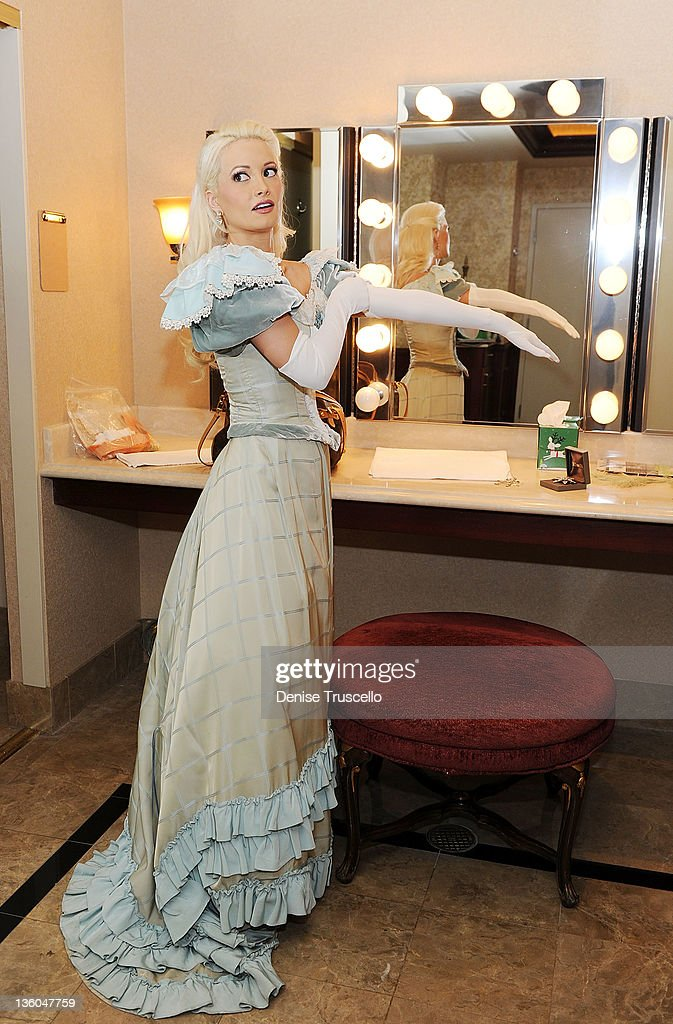 Holly Madison backstage before her appearance in Nevada Ballet Theatre's The Nutcracker performance at Paris Las Vegas on December 17, 2011 in Las Vegas, Nevada.