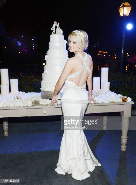 Holly Madison during her wedding reception at Disneyland on September 10 2013 in Anaheim California