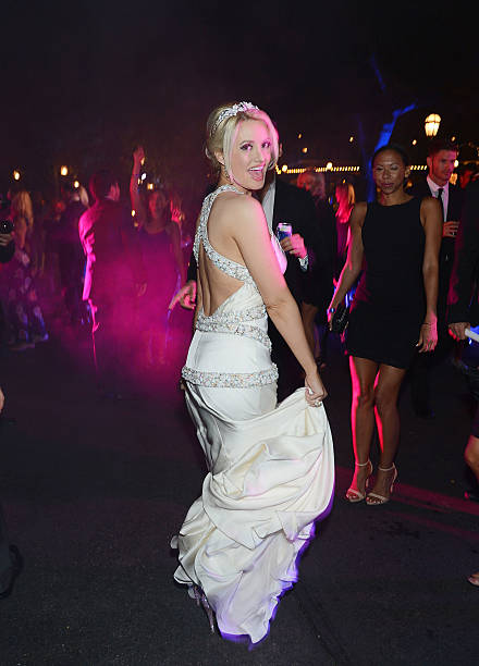 Holly Madison During Her Wedding Reception At Disneyland On September 10 2013 In Anaheim