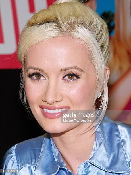 Holly Madison during The Girls Next Door InStore DVD and Magazine Autograph Signing at Tower Records on Sunset in West Hollywood California United...