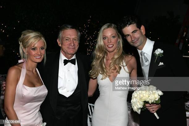 Holly Madison Hugh Hefner with the newlyweds Ashley Lauren Anderson and Charlie Matthau son of Carol and Walter Matthau Film director Charlie Matthau...