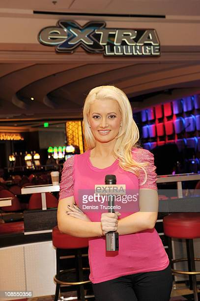 Holly Madison on the Extra set at Planet Hollywood Resort and Casino on January 29 2011 in Las Vegas Nevada