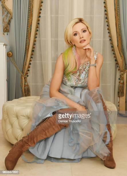 Holly Madison prepares for day two of Electric Daisy Carnival 2018 at her home on May 19 2018 in Las Vegas Nevada