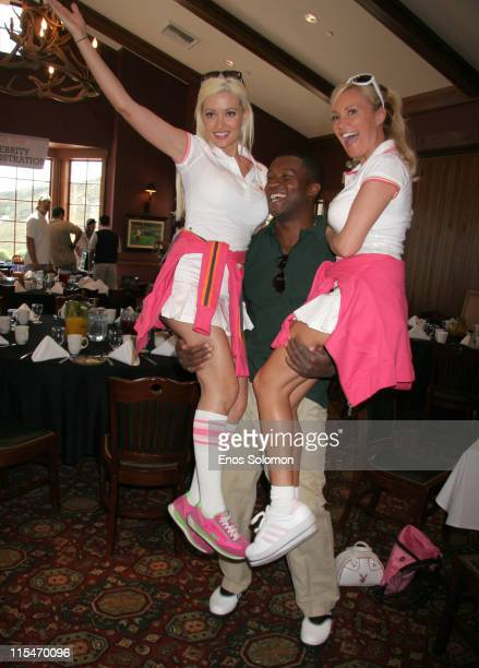 Holly Madison Roger Cross and Bridget Marquardt during 7th Annual Playboy Golf Scramble Championship Finals at Lost Canyons Golf Club in Simi Valley...