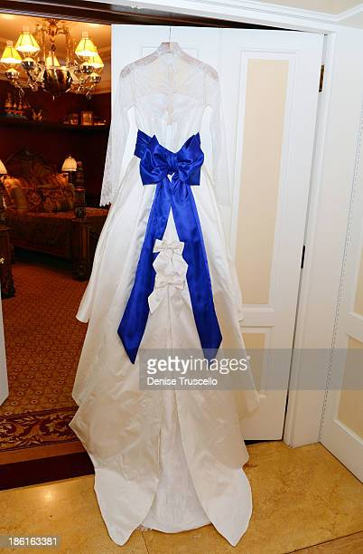 Holly Madison's wedding dress at Disneyland on September 10 2013 in Anaheim California