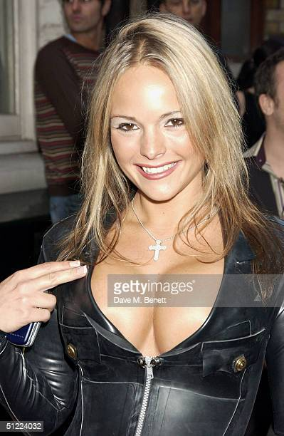 Holly Maguire arrives at the 11th annual Kerrang Awards 2004 at The Brewery East London on August 26 2004 in London The music awards hosted by...