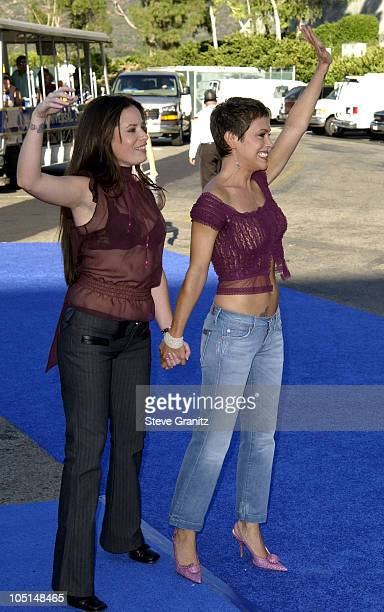 Holly Marie Combs and Alyssa Milano during 2003 Teen Choice Awards Arrivals at Universal Amphitheatre in Universal City California United States