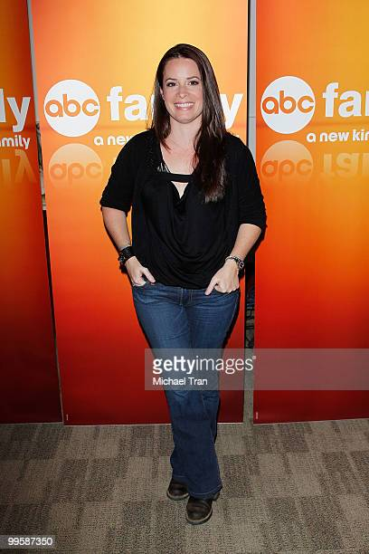 Holly Marie Combs arrives to the Disney/ABC Television Group press junket held at the ABC Television Network Building on May 15 2010 in Burbank...