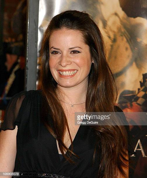 Holly Marie Combs during 'The Last Samurai' Los Angeles Premiere at Mann Village Theatre in Westwood California United States