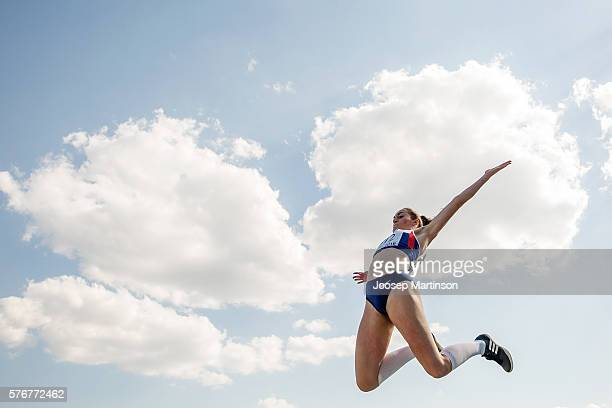Holly Mills of Great Britain competes in the Girls Long Jump final during European Athletics Youth Championships on July 17 2016 in Tbilisi Georgia