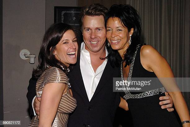 Holly Newman Richard Evans and Kim Heirston Evans attend Birthday Party for Barbara Hemmerle Gollust and Holly Newman at Opia on January 25 2005 in...