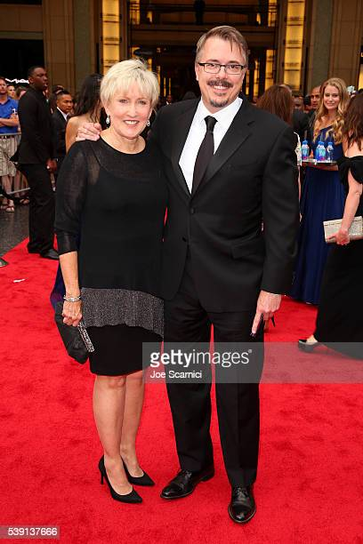 Holly Rice and producer Vince Gilligan attend the 44th AFI Life Achievement Award Gala Tribute honoring John Williams in partnership with FIJI Water...