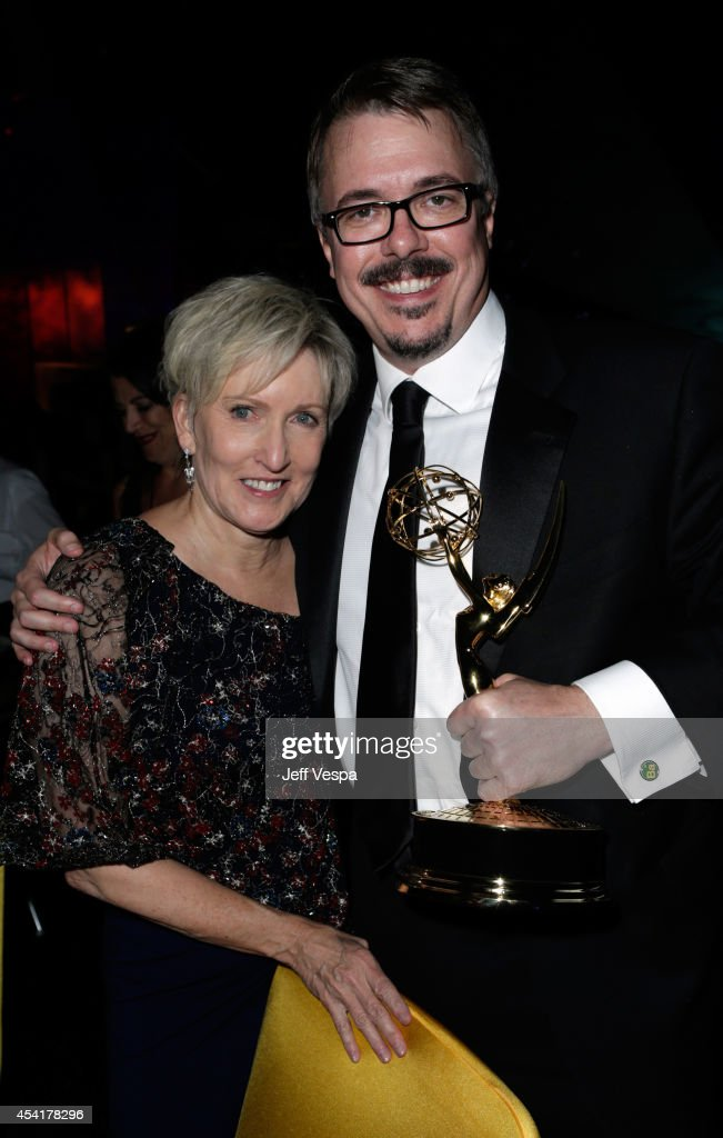 Holly Rice and Vince Gilligan attend the 66th Annual Primetime Emmy Awards Governors Ball held at Los Angeles Convention Center on August 25, 2014 in Los Angeles, California.
