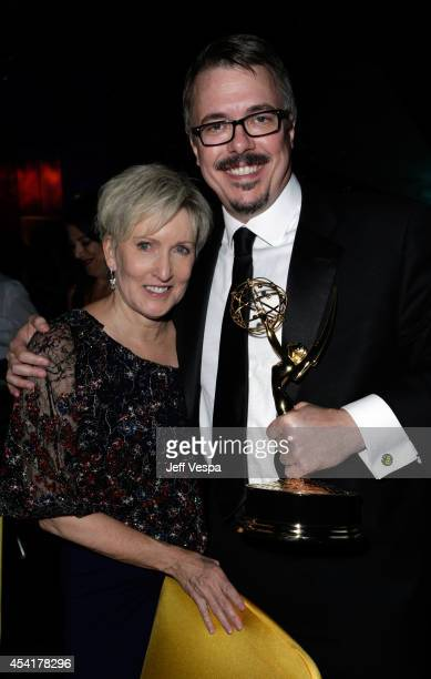 Holly Rice and Vince Gilligan attend the 66th Annual Primetime Emmy Awards Governors Ball held at Los Angeles Convention Center on August 25 2014 in...