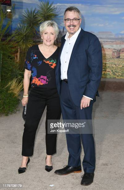 Holly Rice and Vince Gilligan attend the premiere of Netflix's El Camino A Breaking Bad Movie at Regency Village Theatre on October 07 2019 in...