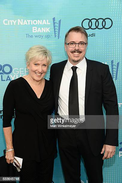 Holly Rice and writer/executive producer Vince Gilligan attend Backstage at the Geffen at Geffen Playhouse on May 22 2016 in Los Angeles California