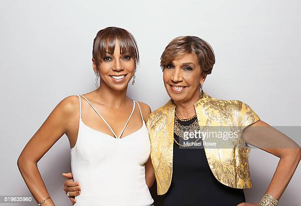 Holly Robinson and Dolores Robinson are photographed at the 2016 Black Women in Hollywood Luncheon for Essencecom on February 25 2016 in Los Angeles...