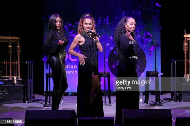 Holly Robinson Cindy Herron and Terry Ellis of En Vogue performs at Ovarian Cancer Research Alliance Presents Style Lab hosted by Maggie Gyllenhaal...