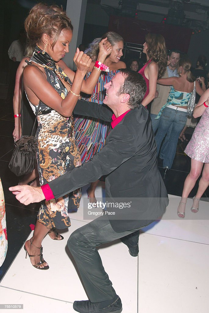 Holly Robinson Peete and Colin Cowie on the dance floor at the Cosmopolitan's 40th Birthday Bash - Arrivals and Inside at Skylight Studio in New York City, New York.
