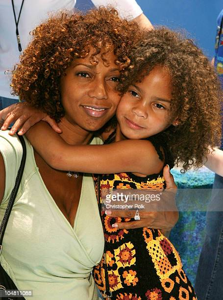 Holly Robinson Peete and daughter Ryan during 'Finding Nemo' Premiere at El Capitan Theater in Hollywood CA United States