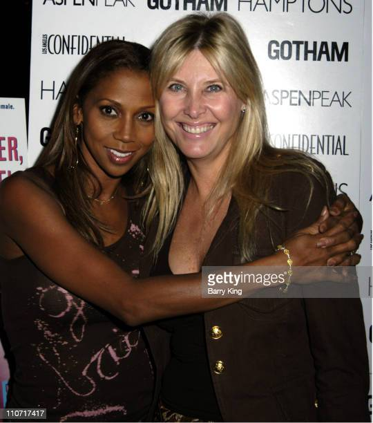 Holly Robinson Peete and Irena Medavoy during LA Confidential Magazine Hosts Holly Robinson Peete Book Party Arrivals and Inside at Norman's in West...