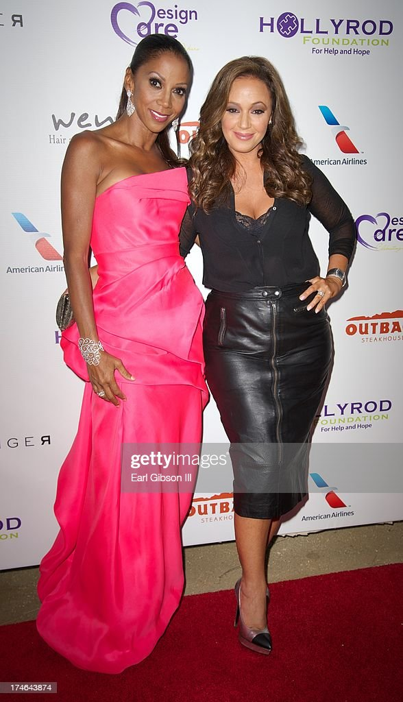 Holly Robinson Peete and Leah Remini attend the 15th Annual DesignCare on July 27, 2013 in Malibu, California.