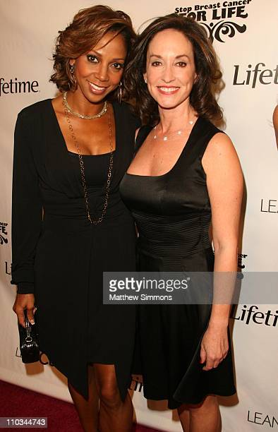Holly Robinson Peete and Lilly Tartikoff attend a screening of the Lifetime Original Movie Matters of Life and Dating at the Landmark Theatres on...