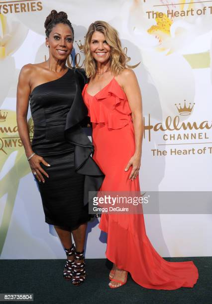 Holly Robinson Peete and Lori Loughlin arrive at the 2017 Summer TCA Tour Hallmark Channel And Hallmark Movies And Mysteries at a private residence...