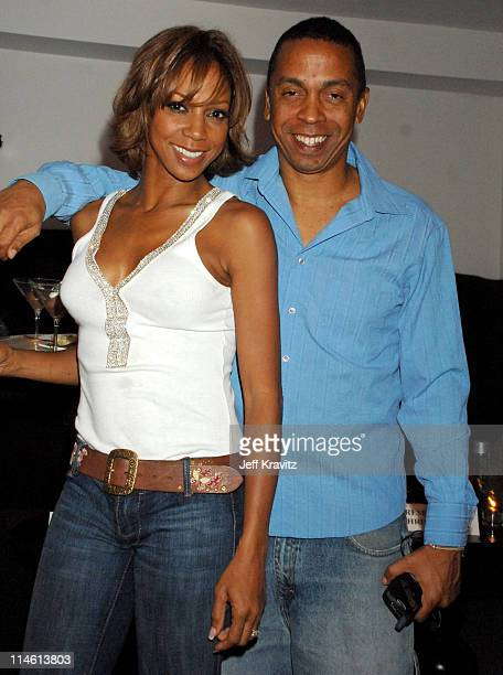 Holly Robinson Peete and Matt Robinson during 'I Think I Love My Wife' Los Angeles Premiere After Party in Los Angeles California United States
