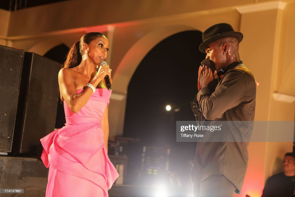Holly Robinson Peete and Ne-Yo attend the 15th Annual DesignCare benefiting The HollyRod Foundation on July 27, 2013 in Malibu, California.