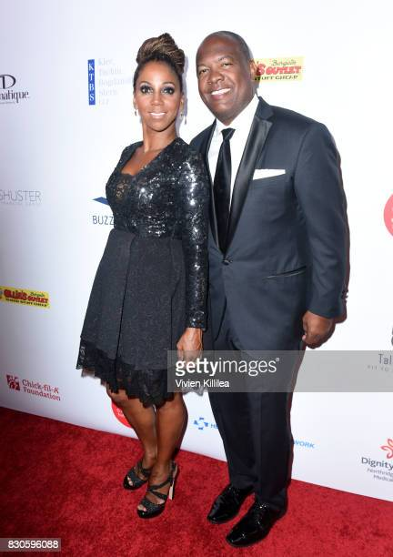 Holly Robinson Peete and Rodney Peete attend the 17th Annual Harold Carole Pump Foundation Gala at The Beverly Hilton Hotel on August 11 2017 in...