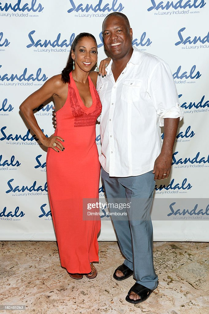 Holly Robinson Peete and Rodney Peete attend the Gala Dinner and Awards during Day Three of the Sandals Emerald Bay Celebrity Getaway and Golf Weekend on September 29, 2013 at Sandals Emerald Bay in Great Exuma, Bahamas.