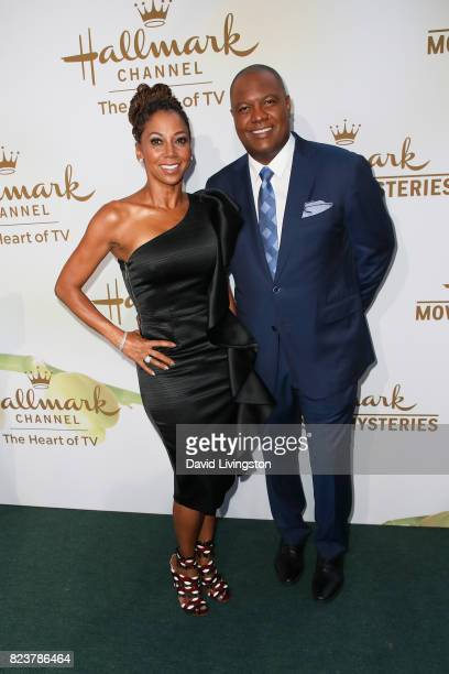 Holly Robinson Peete and Rodney Peete attend the Hallmark Channel and Hallmark Movies and Mysteries 2017 Summer TCA Tour on July 27 2017 in Beverly...