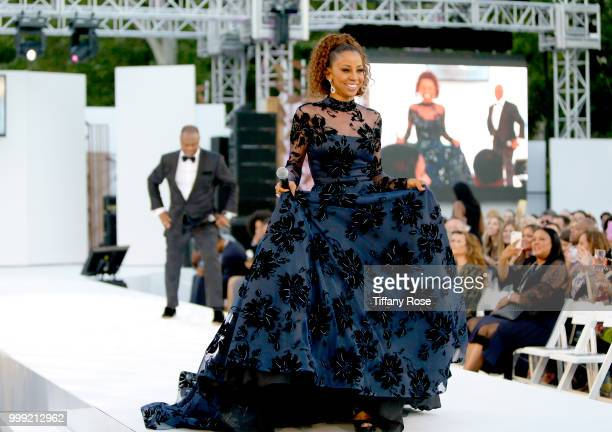 Holly Robinson Peete and Rodney Peete onstage at the HollyRod 20th Annual DesignCare at Cross Creek Farm on July 14 2018 in Malibu California