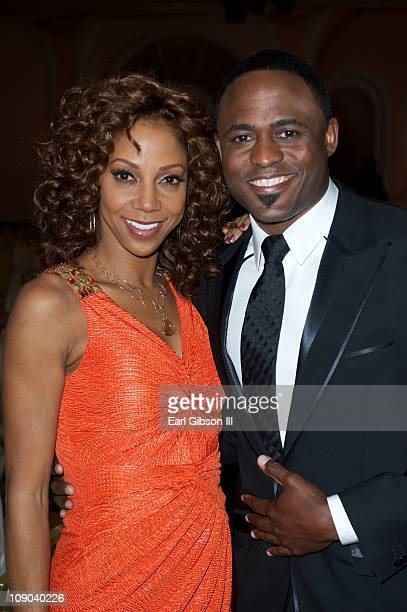 Holly Robinson Peete and Wayne Brady host the 42nd NAACP Image Awards Nominees' Luncheon on February 12 2011 in Beverly Hills California