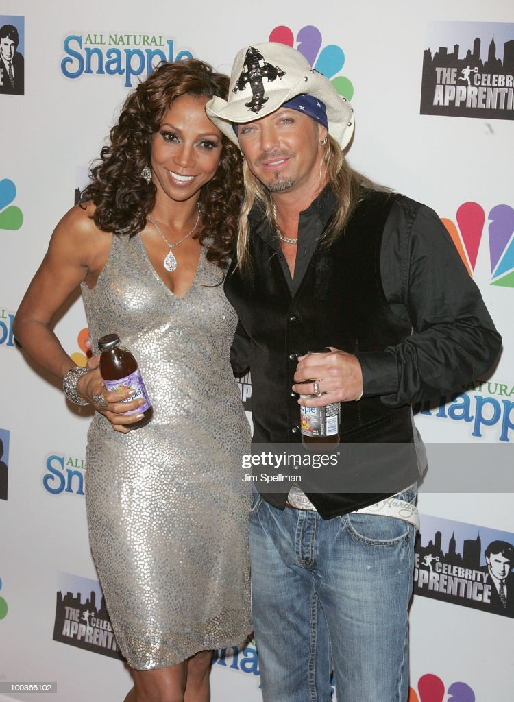 Holly Robinson Peete and winner Bret Michaels attend 'The Celebrity Apprentice' Season 3 finale after party at the Trump SoHo on May 23, 2010 in New York City.